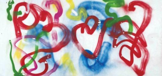 bâche en poly(chlorure de vinyle) graffée réalisée par Yona Friedman (2008, Centre national des arts plastiques, Paris)
