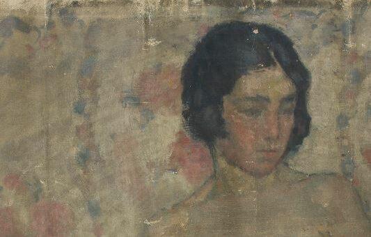 étude et conservation-restauration d'une peinture intitulée étude de nu de Charles-Auguste Edelmann